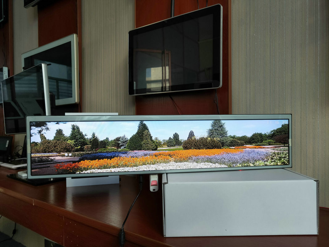 Ultra - Wide Wall Mounted Digital Signage 24 Inch Full HD 250-350 Nits High Brightness